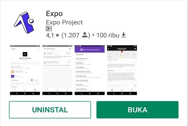 download expo on playstore